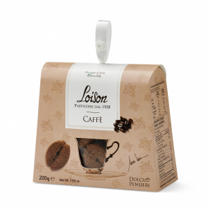 Coffee biscuits - fine butter cookies in a gift box Loison