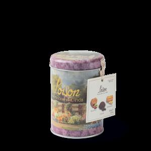 Biscuits italien artisanaux en boîte metal 120 gr - bacetto cacao et maraneo