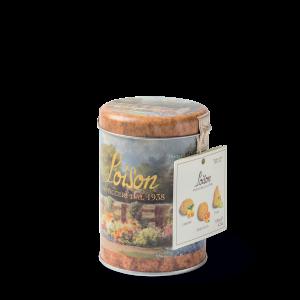 Biscuits artisanaux à la fruit en boîte metal 120 gr - Citron, abricot et poire