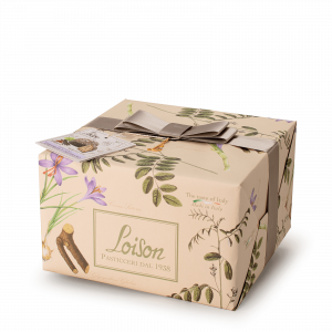Liquorice and saffron Panettone - Fruit and Flowers Loison