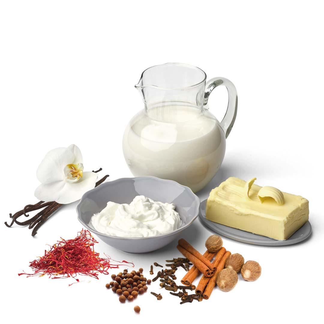 Ingredienti freschi e spezie