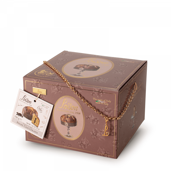 Panettone with Chocolate cream and chips Gold Regal Loison